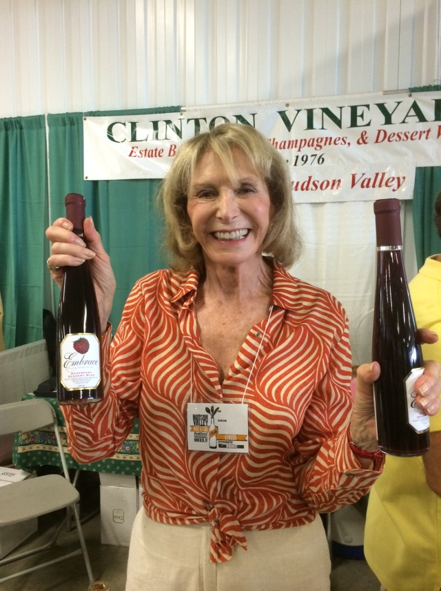 A Happy Phyllis Feder, Owner of Clinton Vineyards