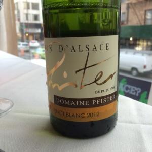 Pfister Pinot Blanc 2012