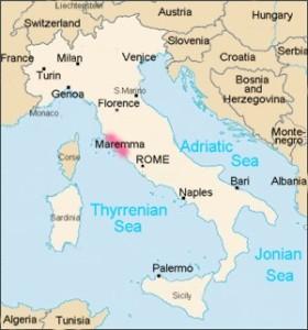 Location of the Maremma